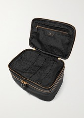 Anya Hindmarch Net Sustain Vanity Kit Textured Leather-trimmed Recycled Shell Cosmetics Case