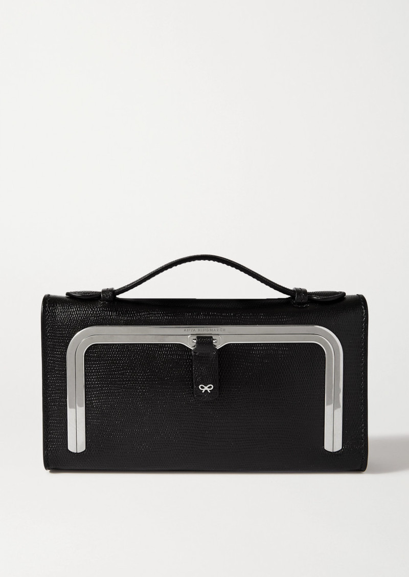 Anya Hindmarch Postbox Lizard-effect Leather Tote