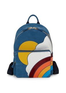 Anya Hindmarch Silver Cloud Mini Leather Backpack