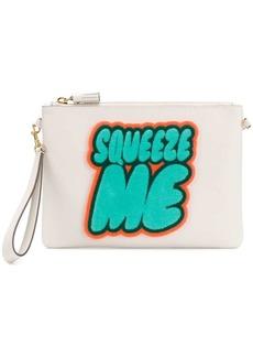 Anya Hindmarch Squeeze Me print clutch bag