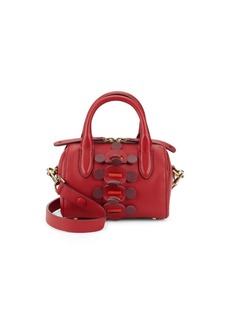 Anya Hindmarch Vere Apex In Leather Mini Barrel Bag