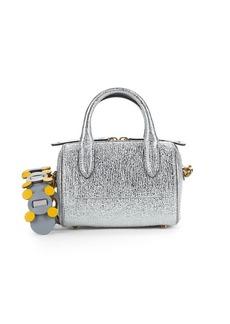 Anya Hindmarch Mini Vere Metallic-Leather Barrel Crossbody Bag