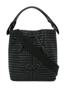 Anya Hindmarch woven bow bucket bag