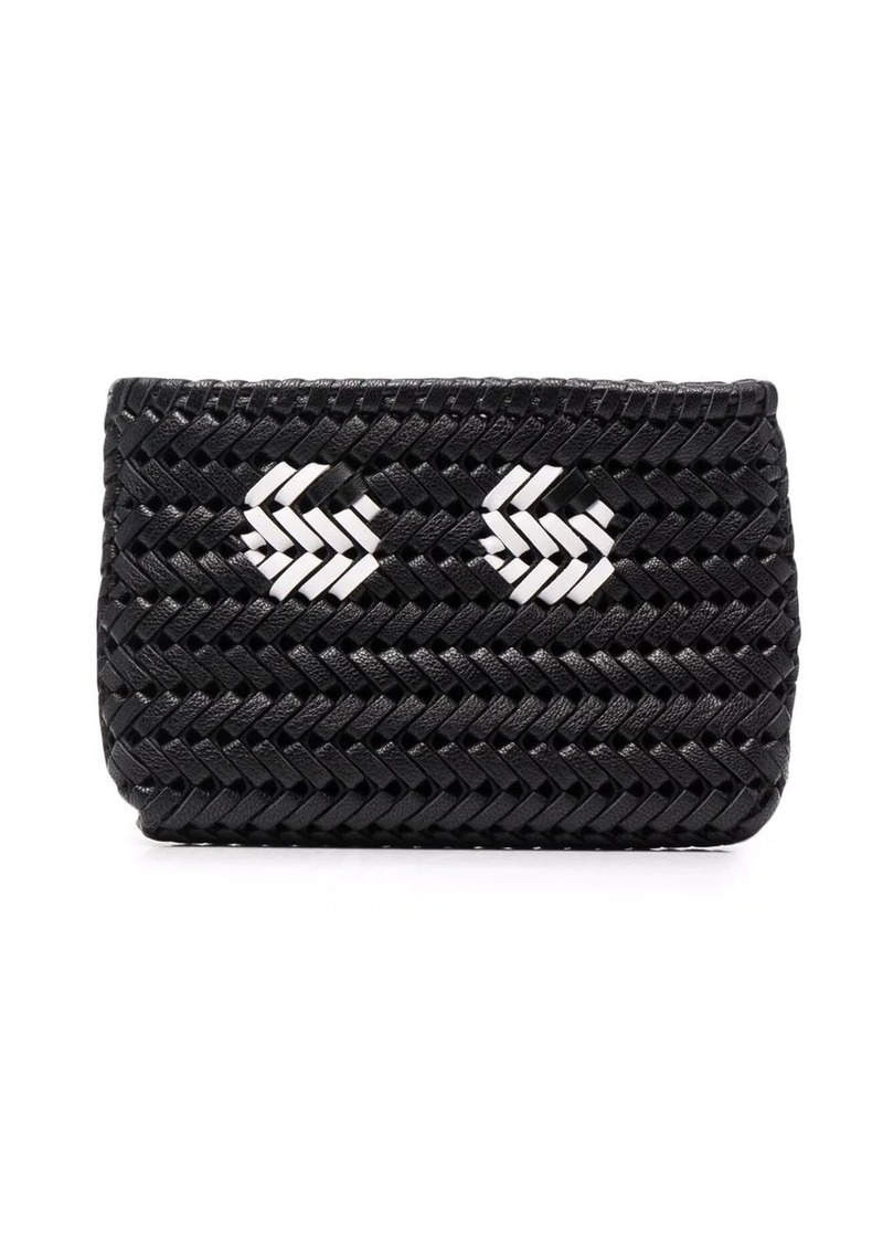 Anya Hindmarch woven leather pouch bag