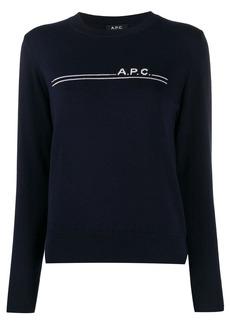 A.P.C. logo striped jumper