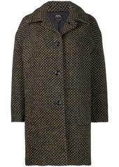 A.P.C. dotted midi coat