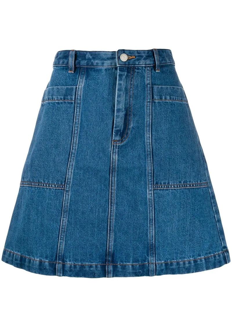 A.P.C. A-line denim skirt