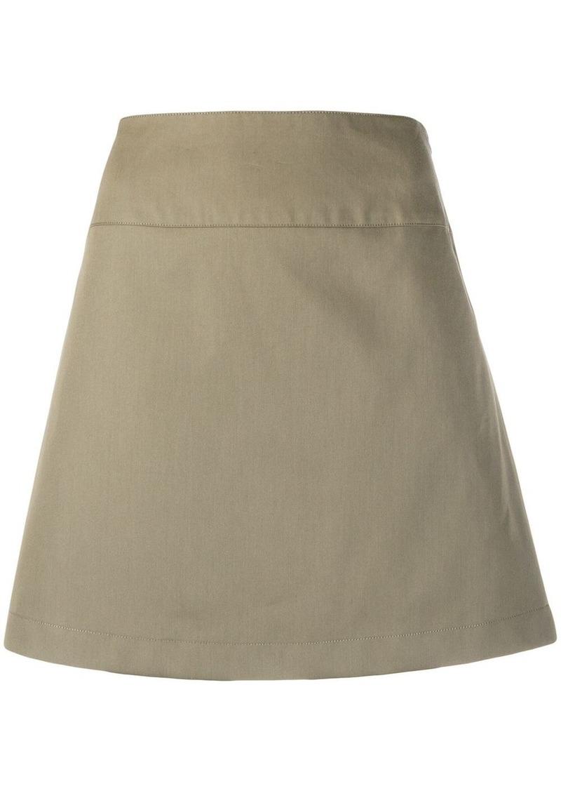 A.P.C. A-line mini skirt