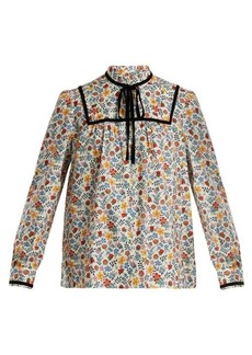A.P.C. Abott floral-print cotton-twill top