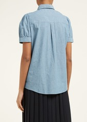 A.P.C. Agathe cotton-chambray blouse
