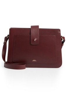 A.P.C. Albane Calfskin Leather Shoulder Bag