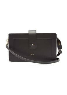A.P.C. Albane mini leather cross-body bag