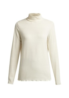 A.P.C. Angele ribbed-jersey high-neck top