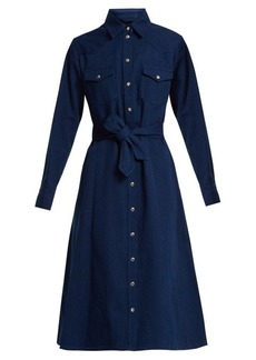 A.P.C. Annie point-collar cotton-denim shirtdress