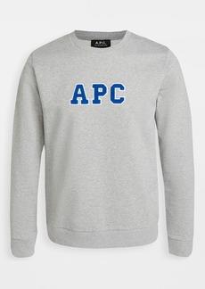 A.P.C. APC College Logo Crew Neck Sweatshirt
