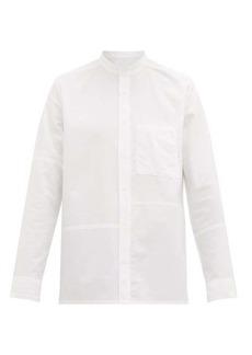 A.P.C. Artus mandarin-collar cotton-muslin shirt