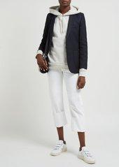 A.P.C. Aston hooded cotton-blend terry sweatshirt