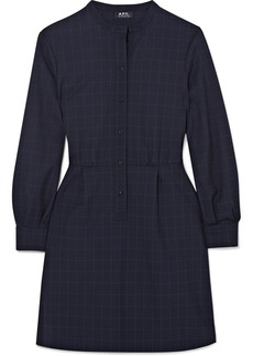 A.P.C. Audrey Checked Crepe Mini Dress