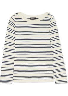 A.P.C. Fog Striped Cotton Top