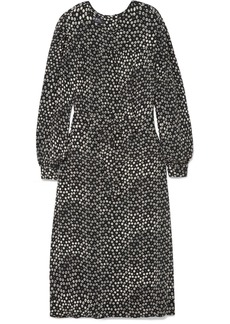 A.P.C. Marguerite Belted Printed Crepe Midi Dress