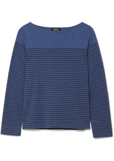A.P.C. Marienere Liz striped cotton-blend jersey top