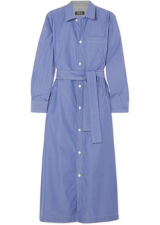 A.P.C. Millie striped cotton-poplin midi shirt dress