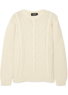 A.P.C. Morbihan cable-knit cotton-blend sweater