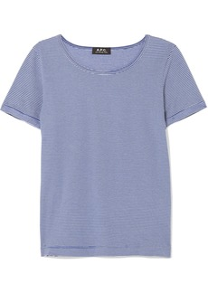 Oma striped cotton-jersey T-shirt