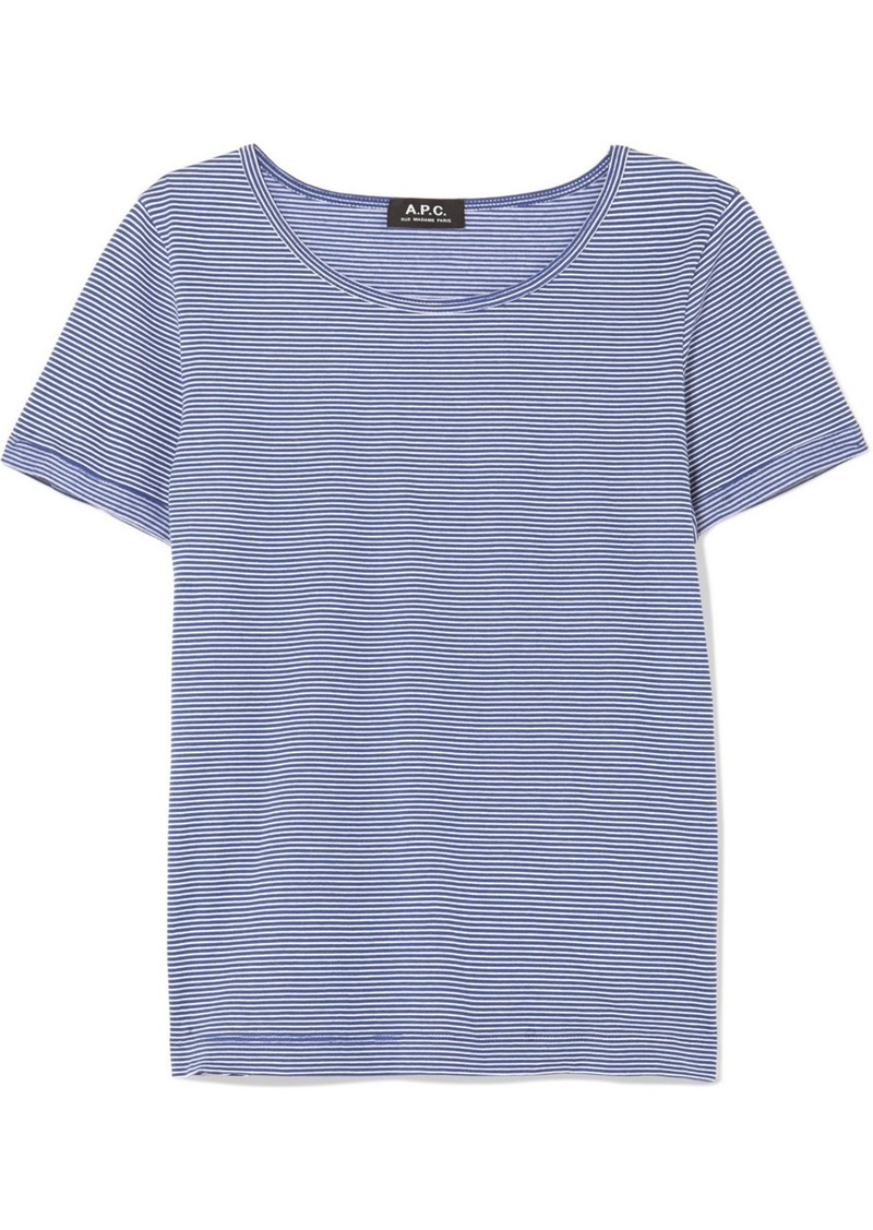 A.P.C. Oma striped cotton-jersey T-shirt