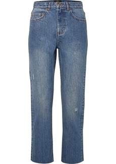 A.P.C. Standard Distressed High-rise Straight-leg Jeans