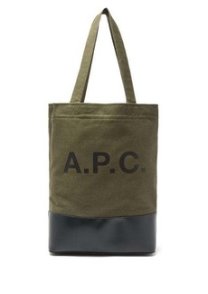 A.P.C. Axel bi-colour canvas and leather tote