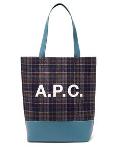 A.P.C. Axelle checked felt tote bag