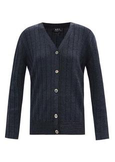A.P.C. Azalea rib-knitted cardigan