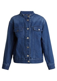 A.P.C. Bailey collarless oversized denim jacket