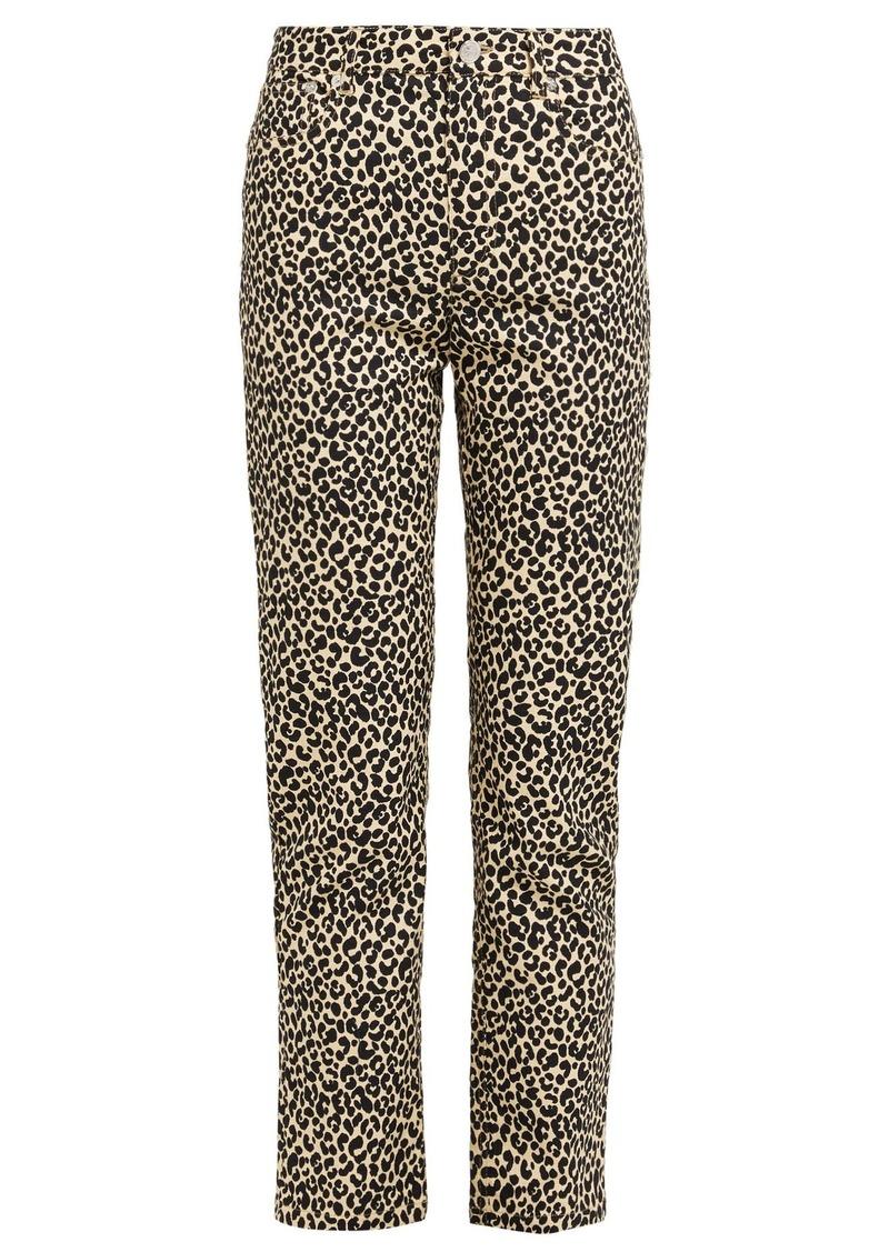 A.P.C. Basse leopard-print straight-leg jeans