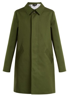 A.P.C. Belleville single-breasted cotton-blend coat