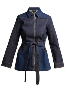 A.P.C. Belted denim jacket