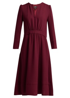 A.P.C. Bing belted crepe dress
