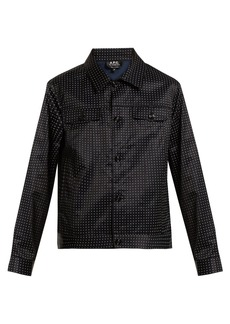 A.P.C. Brandy dot-print cotton-blend satin jacket