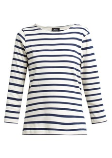 A.P.C. Breton stripe long-sleeved T-shirt