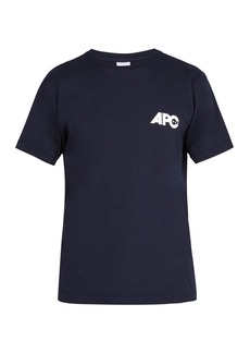 A.P.C. Burnette logo-print cotton-jersey T-shirt