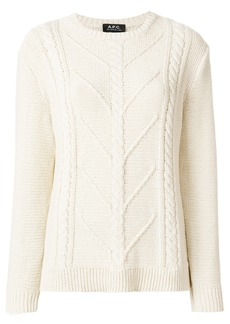 A.P.C. cable knit sweater - Nude & Neutrals