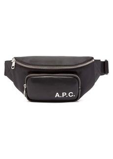 A.P.C. Camden logo-print belt bag