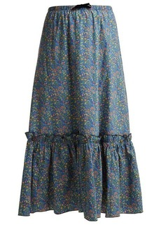 A.P.C. Cecil floral-print cotton skirt