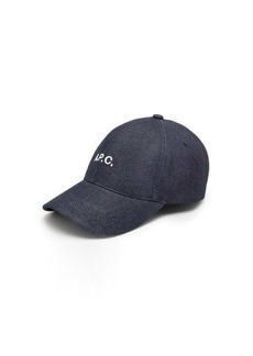 A.P.C. Charlie logo-embroidered denim baseball cap