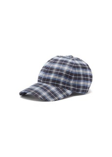 A.P.C. Charlie logo-embroidered plaid baseball cap