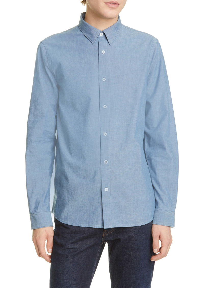 A.P.C. Chemise Hector Button-Up Chambray Shirt