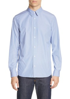 A.P.C. Chemise Hector Stripe Poplin Button-Up Shirt