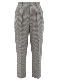 A.P.C. Cherlyn houndstooth wool-blend twill trousers