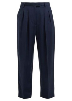 A.P.C. Cheryl pleated-front dupion trousers